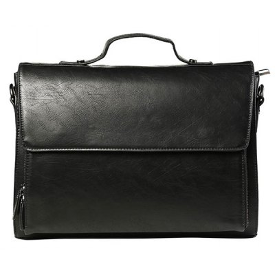 Casual Black Color and Cover Design Messenger Bag For Men