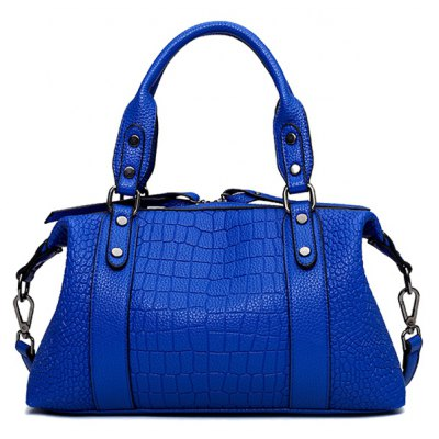 Stylish Embossing and Metallic Design Tote Bag For Women