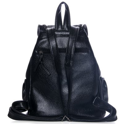 Leisure Weaving and PU Leather Design Satchel For Women