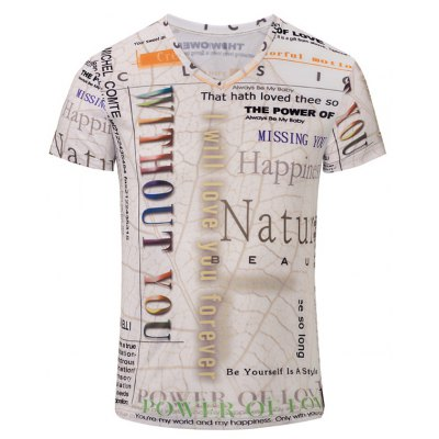 Graphic Printed V Neck Tee