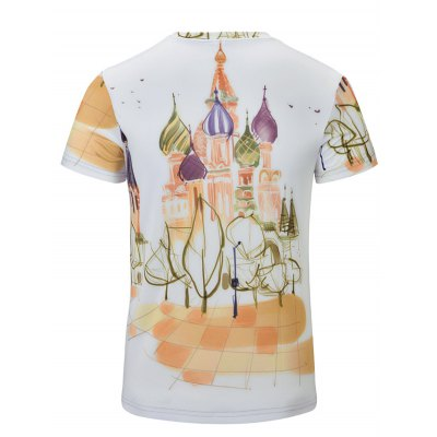 Casual Castle Printed Short Sleeves T-Shirt For Men
