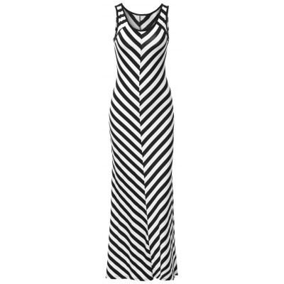 Trendy Scoop Neck Sleeveless Striped Skinny Women's Dress