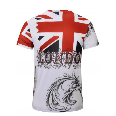 Casual Bus Printed Short Sleeves T-Shirt For Men