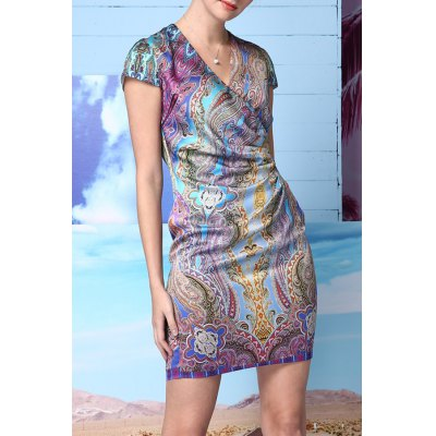 Ethnic Style Printed Dress