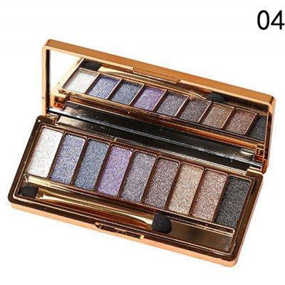 Stylish 9 Colours Shimmery Diamond Eye Shadow Palette with Mirror and Brush