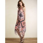 Stylish Spaghetti Straps Sleeveless Loose Print Women's Dress for sale