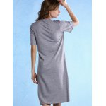 Casual Style Round Neck Half Sleeve Geometric Pattern Women's Dress for sale