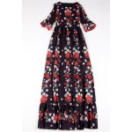 Floral Print Belted Maxi Dress photo