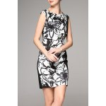 Straight Ink Print Dress for sale