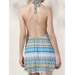 Trendy Halter Backless Printed Dress For Women for sale