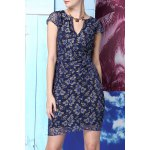 Beading Lace Spliced Dress deal