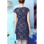 cheap Beading Lace Spliced Dress