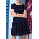 A-Line Printed Lace Dress deal