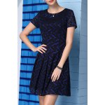 A-Line Printed Lace Dress