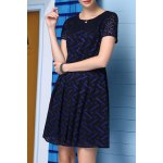 A-Line Printed Lace Dress for sale