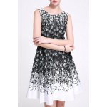 Belted Feather Print Dress deal