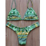 Graceful Halter Floral Print Bikini Set For Women