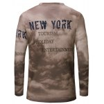 cheap Casual Letters Printing Long Sleeves T-Shirt For Men