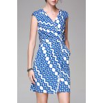 Straight Wrapped Printed Dress deal