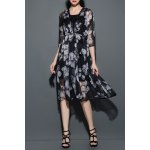best Floral Print Chiffon Cardigan with Cami Dress