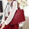 Stylish Solid Colour and Embossing Design Shoulder Bag For Women deal