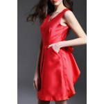 V-Neck Backless Bowknot Evening Dress deal