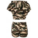 Hooded Camo Crop Top with Shorts photo