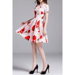 best Floral Print Daisy Applique Dress