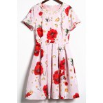 Floral Print Daisy Applique Dress photo
