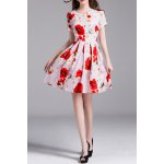 Floral Print Daisy Applique Dress for sale