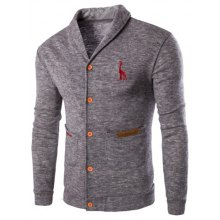 Casual Turn Down Collar Button Up Cardigan