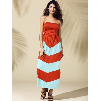 Strapless Stripe Long DressWomens Clothing<br>Strapless Stripe Long Dress<br><br>Style: Casual<br>Material: Polyester<br>Silhouette: A-Line<br>Dresses Length: Ankle-Length<br>Neckline: Strapless<br>Sleeve Length: Sleeveless<br>Pattern Type: Striped<br>With Belt: No<br>Season: Summer<br>Weight: 0.500kg<br>Package Contents: 1 x Dress