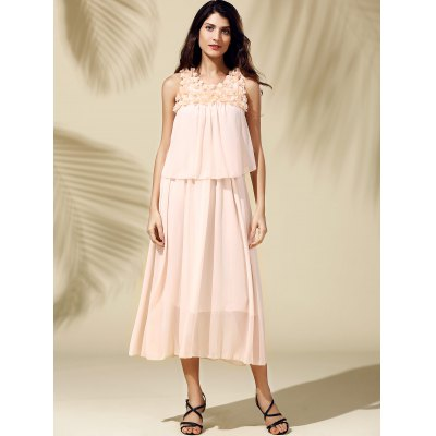 Bohemian Beach Scoop Neck  Sleeveless Chiffon Maxi Dress For WomenWomens Clothing<br>Bohemian Beach Scoop Neck  Sleeveless Chiffon Maxi Dress For Women<br><br>Style: Bohemian<br>Material: Polyester<br>Fabric Type: Chiffon<br>Silhouette: Beach<br>Dresses Length: Ankle-Length<br>Neckline: Scoop Neck<br>Sleeve Length: Sleeveless<br>Pattern Type: Others<br>With Belt: No<br>Season: Summer<br>Weight: 0.370kg<br>Package Contents: 1 x Dress
