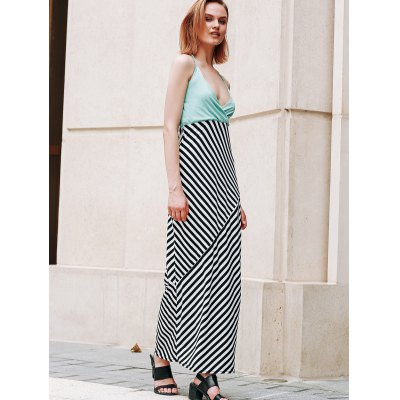 Halter Striped Backless Maxi DressWomens Clothing<br>Halter Striped Backless Maxi Dress<br><br>Style: Bohemian<br>Material: Polyester<br>Silhouette: A-Line<br>Dresses Length: Floor-Length<br>Neckline: Halter<br>Sleeve Length: Sleeveless<br>Pattern Type: Striped<br>With Belt: No<br>Season: Summer<br>Weight: 0.300kg<br>Package Contents: 1 x Dress