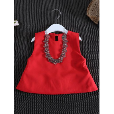 Stylish Round Neck Tank Top + Shorts Girls TwinsetGirls Clothing<br>Stylish Round Neck Tank Top + Shorts Girls Twinset<br><br>Material: Cotton Blend<br>Clothing Length: Regular<br>Sleeve Length: Sleeveles<br>Style: Fashion<br>Pattern Style: Solid<br>Weight: 0.220kg<br>Package Contents: 1 x Tank Top  1 x Shorts