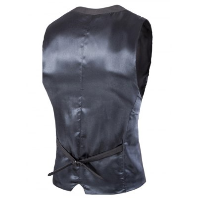 Slimming Single Breasted Solid Color Men's Waistcoat