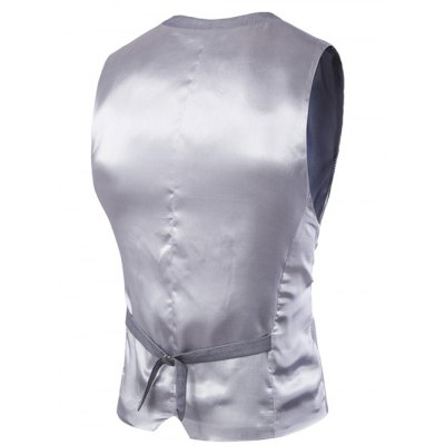 Slim Fit Single Breasted Solid Color Men's Waistcoat