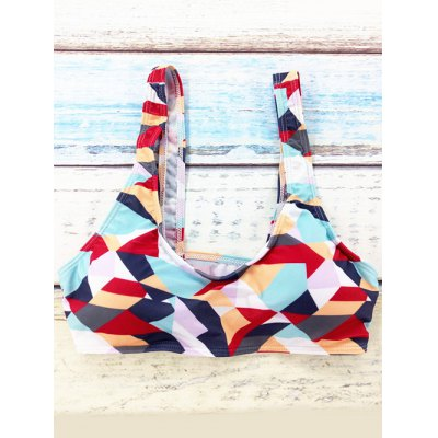 Scoop Neck Colorized Rhombus Print Womens Bikini SetWomens Swimwear<br>Scoop Neck Colorized Rhombus Print Womens Bikini Set<br><br>Swimwear Type: Bikini<br>Gender: For Women<br>Material: Polyester<br>Bra Style: Push Up<br>Support Type: Wire Free<br>Neckline: Scoop Neck<br>Pattern Type: Geometric<br>Waist: High Waisted<br>Elasticity: Micro-elastic<br>Weight: 0.154kg<br>Package Contents: 1 x Bra  1 x Briefs
