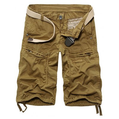 Casual Solid Color Cargo Shorts For Men