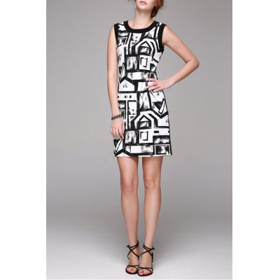 Fitting Doodle Printed Dress