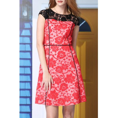 A-Line Lace Splicing Dress
