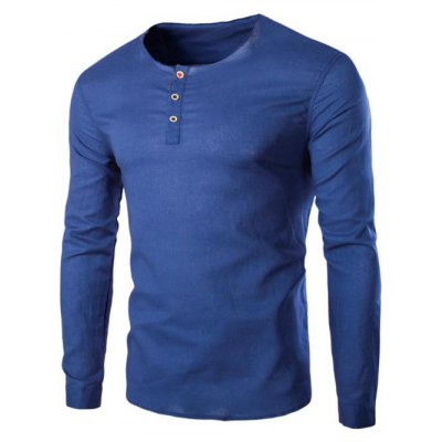 Solid Color Pullover T-Shirts For Men