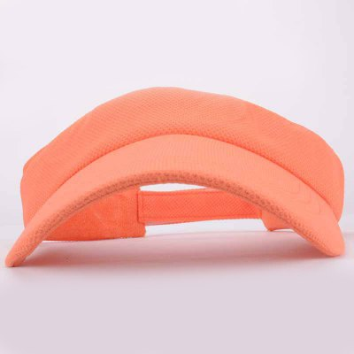 Summer Chic Open Top Vibrant Orange Visor For Women