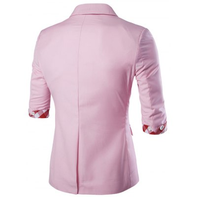 Casual Three Quarter Sleeve Solid Color Blazer For Men