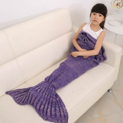 Flouncing Sleeping Bag Mermaid Design Knitted Blanket and Throws For KidsBedding<br>Flouncing Sleeping Bag Mermaid Design Knitted Blanket and Throws For Kids<br><br>Material: Acrylic<br>Package Contents: 1 x Blanket<br>Pattern Type: Stripe<br>Size(L*W)(CM): 140*70CM<br>Type: Knitted<br>Weight: 0.720kg