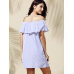 Casual Off-The-Shoulder Striped Flounce Women's Dress for sale