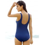 Stylish Scoop Neck Solid Color One-Piece Women's Swimwear for sale