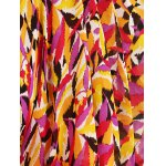 Stylish Women's Plunging Neck Loose Print Cover Up for sale