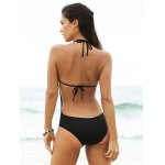 Stylish Women's Plunging Neck Open Back One Piece Swimwear deal