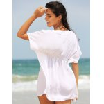Stylish Women's Plunging Neck Loose Cover Up for sale